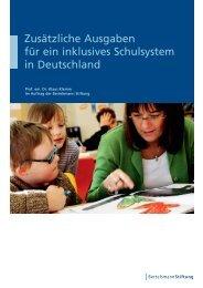 Zusätzliche Ausgaben für ein inklusives Schulsystem in Deutschland