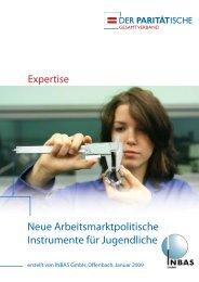 Neue Arbeitsmarktpolitische Instrumente für Jugendliche