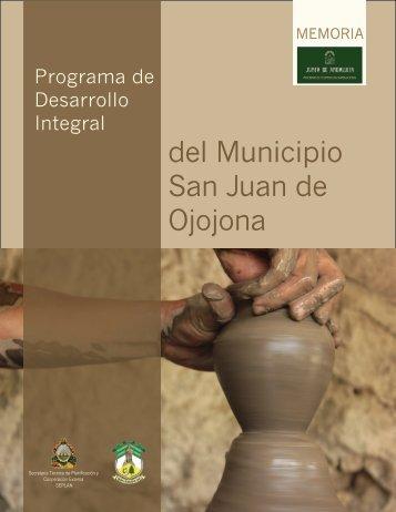 Programa de Desarrollo Integral del Municipio San Juan de Ojojona