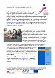 Fondazione per la Gioventù del Baden ... - Jugendstiftung