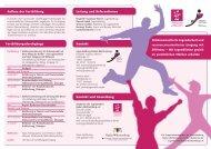 Aufbau der Fortbildung Fortbildungsdurchgänge ... - Jugendstiftung