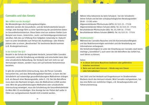 Pocket-Info Cannabis - Jugend(Sucht)Beratung Hamm