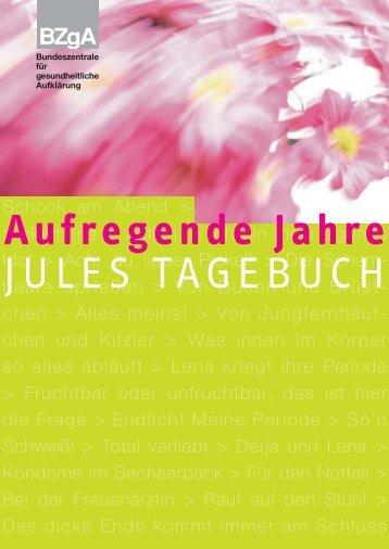 Aufregende Jahre - Jules Tagebuch - Akzente Jugendinfo