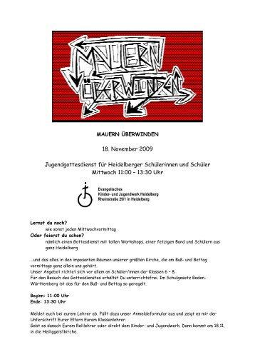 Anmeldeformular - Ev. Kinder und Jugendwerk Heidelberg