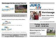 Vernissage Atelier Cölber Mühle - JUKO Marburg e. V.