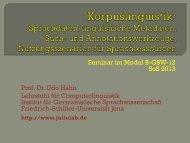Einführung - Jena University Language & Information Engineering Lab