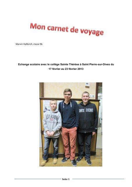 Carnet de voyage - Julius-Echter-Gymnasium