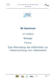 W-Seminar - Julius-Echter-Gymnasium