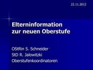 Elterninformation zur neuen Oberstufe - Julius-Echter-Gymnasium