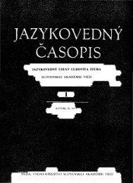 PDF - Jazykovedný ústav Ľudovíta Štúra - SAV