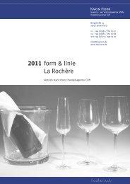 Katalog 2011 form & linie, La Rochère - frauhorn.de