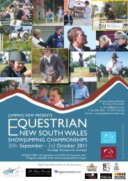 Program - Jumping NSW - Equestrian Australia