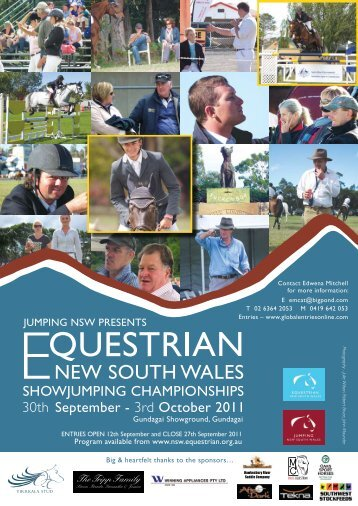 Program - Jumping NSW - Equestrian Australia