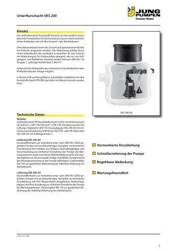 jung pumpen pks d 1000 dle druckleitungsendschacht aus kunststoff. Black Bedroom Furniture Sets. Home Design Ideas