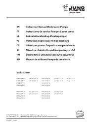 EN Instruction Manual Wastewater Pumps FR ... - Jung Pumpen