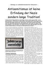 Antisemitismus ist keine Erfindung der Nazis sondern lange Tradition!
