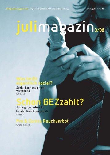Ausgabe 3/2006 - Junge Liberale NRW