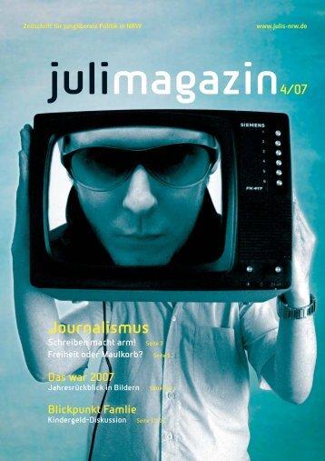 Ausgabe 4/2007 - Junge Liberale NRW