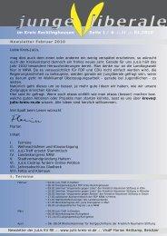 Newsletter JuLis KV RE FLORIAN Februar.indd
