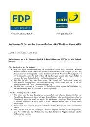 Am Sonntag, 30. August, sind Kommunalwahlen - Geh' hin, Deine ...