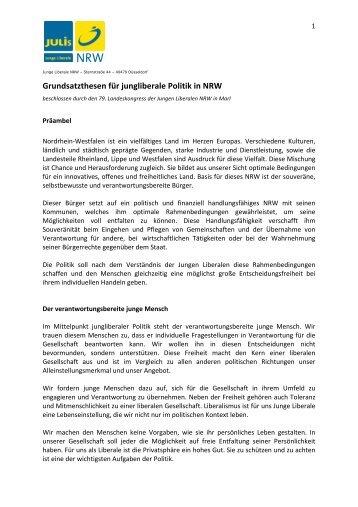 Zum Grundsatzprogramm - Junge Liberale NRW