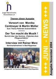 JUNI - NEWS - Junge Nierenkranke Deutschland e.V.