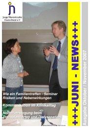 Juni News Oktober 07 - Junge Nierenkranke Deutschland e.V.