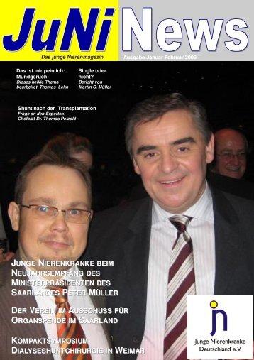 Juni News Januar Februar 2009 - Junge Nierenkranke Deutschland ...