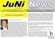 Juni News 1-2011 - Junge Nierenkranke Deutschland e.V.