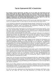 Bericht zum Tag der Organspenden 2007 von Thomas Lehn - Junge ...