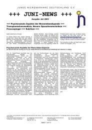 JUNI-NEWS - Junge Nierenkranke Deutschland e.V.