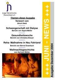 Neue Juni News Dezember - Junge Nierenkranke Deutschland e.V.