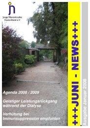Juni News Januar 2008 - Junge Nierenkranke Deutschland e.V.