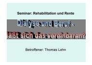 Seminar: Rehabilitation und Rente Betroffener: Thomas Lehn