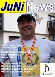 Juni News Nr 4 Nov 09 - Junge Nierenkranke Deutschland e.V.