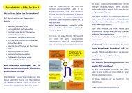 Flyer Projekt 100 - Junge Nierenkranke Deutschland e.V.