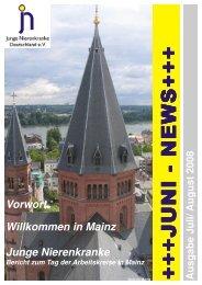 Juni News Juli August - Junge Nierenkranke Deutschland e.V.