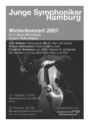 Programmheft - Junge Symphoniker Hamburg