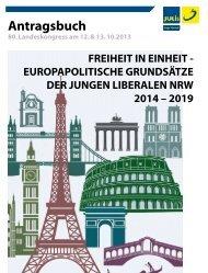 Antragsbuch - Junge Liberale NRW