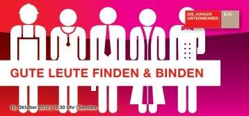 guTe leuTe FInden & BInden - Die Jungen Unternehmer