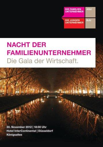 NACHT DER FAMILIENUNTERNEHMER Die Gala der Wirtschaft.