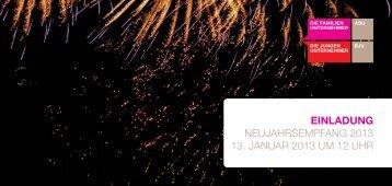 einladung neujahrsempfang 2013 13. januar 2013 um 12 uhr