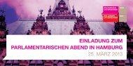 einladung zum Parlamentarischen abend in hamburg 25. März 2013