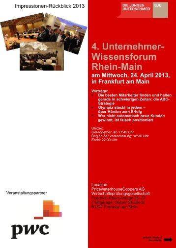 4. Unternehmer- Wissensforum Rhein-Main - Die Jungen ...