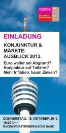 KONJUNKTUR & MÄRKTE: AUSBLICK 2013. - Familienunternehmen