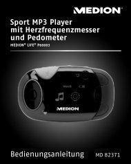Sport MP3 Player mit Herzfrequenzmesser und Pedometer - Medion
