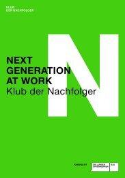 NEXT GENERATION AT WORK Klub der Nachfolger - Die Jungen ...