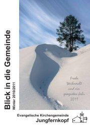 Blick in die Gemeinde Winter 2010/2011 - Jungfernkopf.info