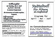 Programm für April - Mai - Juni 2011 - Jungfernkopf.info