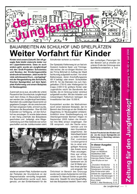 Der Jungfernkopf Ausgabe Juli 2006 - Jungfernkopf.info